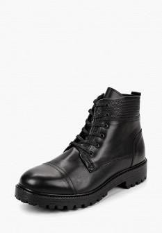 Мужские черные осенние кожаные ботинки с мехом
