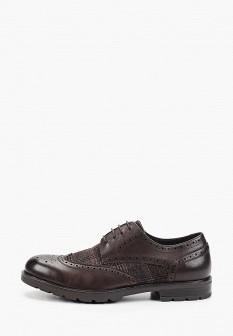 Мужские коричневые осенние кожаные текстильные туфли