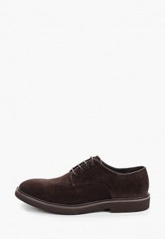 Мужские коричневые осенние текстильные туфли