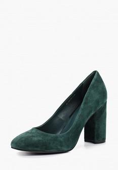 Женские зеленые осенние туфли на каблуке