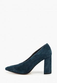 Женские бирюзовые осенние туфли на каблуке