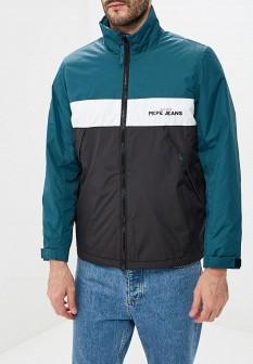 Мужская бирюзовая утепленная осенняя куртка