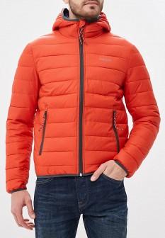 Мужская оранжевая утепленная осенняя куртка