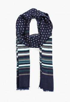 Мужской синий осенний шарф Piazza Italia