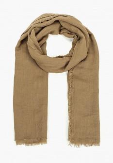 Мужской коричневый осенний шарф
