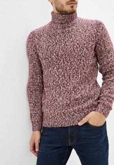 Мужской бордовый осенний свитер