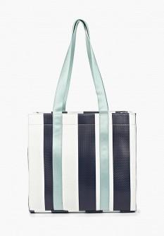 Женская синяя кожаная сумка