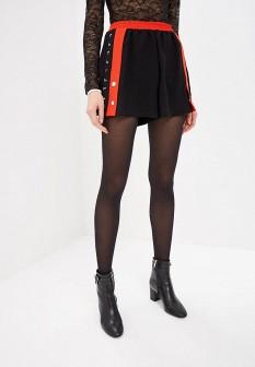 Женские черные итальянские шорты