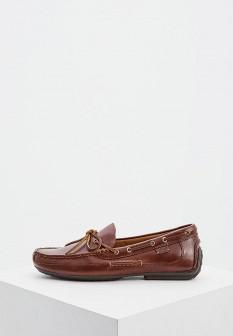 Мужские коричневые осенние кожаные мокасины