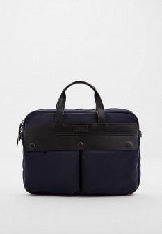 Мужская синяя осенняя сумка