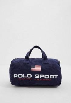 Мужская синяя осенняя спортивная сумка