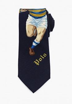 Мужской синий итальянский осенний галстук