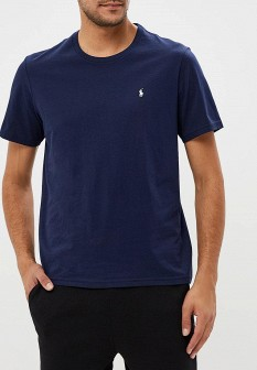 Мужская синяя осенняя домашняя футболка
