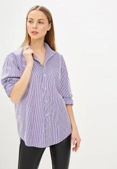 Женская фиолетовая осенняя рубашка