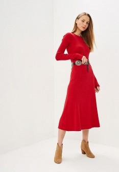 Красное осеннее платье Polo Ralph Lauren