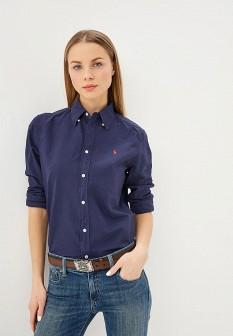 Женская синяя рубашка Polo Ralph Lauren