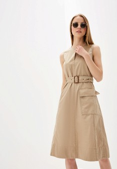 Бежевое платье Polo Ralph Lauren