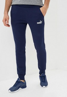 Мужские синие осенние спортивные брюки slim