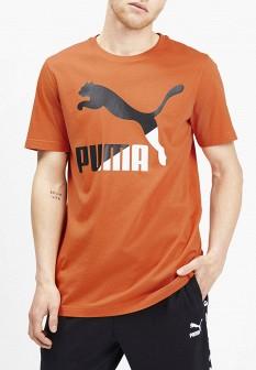 Мужская оранжевая осенняя футболка