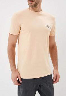 Мужская розовая осенняя футболка
