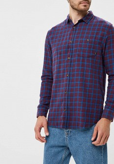 Мужская бордовая осенняя рубашка