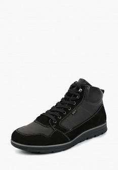 Мужские черные осенние кожаные ботинки из нубука