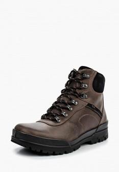 Мужские коричневые осенние кожаные ботинки