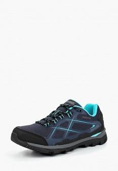 Женские синие осенние кожаные трекинговые ботинки