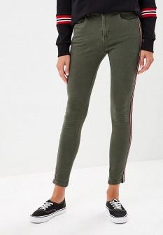 Женские зеленые осенние джинсы regular