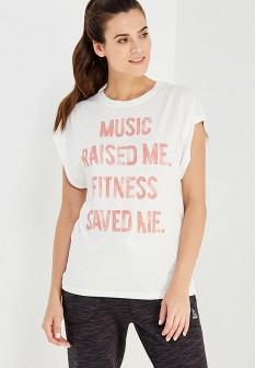 Женская белая осенняя спортивная футболка