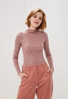 Женская розовая водолазка