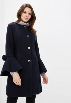 Женское синее итальянское осеннее пальто