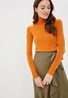 Женская оранжевая итальянская водолазка
