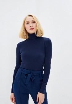 Женская синяя итальянская водолазка