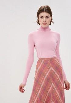 Женская розовая итальянская водолазка