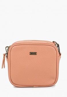 Женская розовая кожаная сумка
