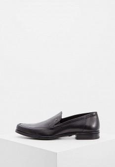 Мужские черные итальянские текстильные туфли лоферы