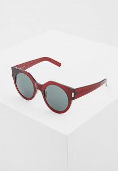 Женские бордовые итальянские солнцезащитные очки
