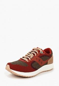 Женские красные осенние кожаные кроссовки