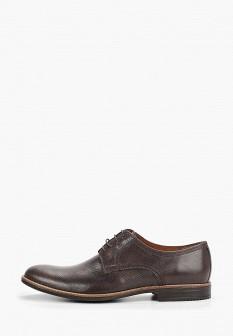Мужские коричневые осенние кожаные туфли