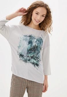 Женский белый осенний лонгслив