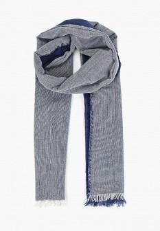 Мужской голубой осенний летний шарф