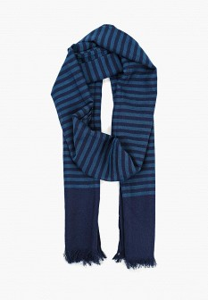 Мужской синий осенний летний шарф