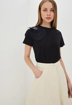 Женская черная футболка See by Chloe