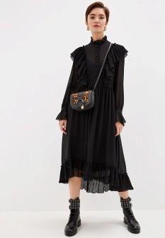 Черное осеннее платье See by Chloe