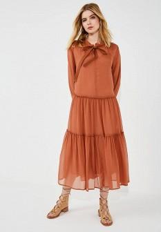 Коричневое платье See by Chloe