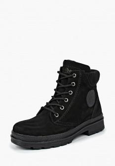 Женские черные осенние ботинки из нубука