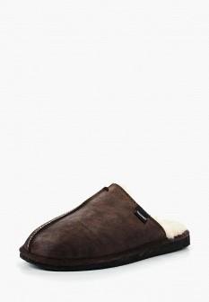 Мужские коричневые осенние кожаные тапочки