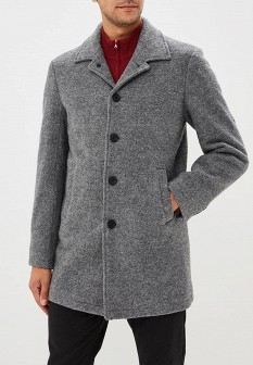 Мужское серое осеннее пальто