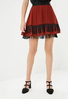 Коричневая осенняя юбка Sisley